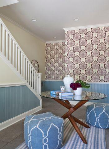 玄关楼梯美式风格装修图片