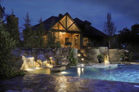 花园泳池地中海风格装修图片