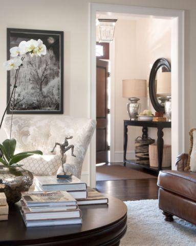 客厅背景墙美式风格装潢图片