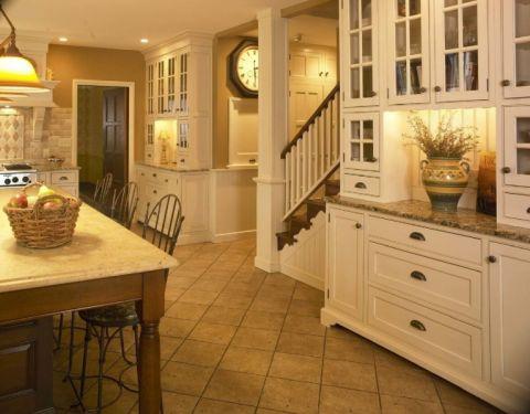 厨房地砖美式风格装潢效果图