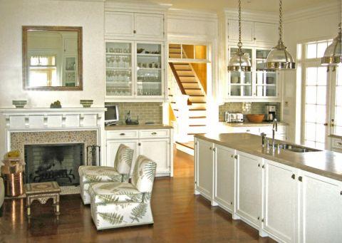 厨房地板砖美式风格装饰设计图片