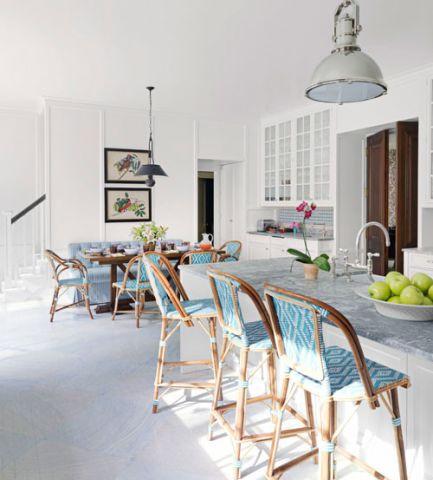 厨房地砖美式风格装潢设计图片