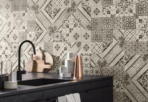 厨房背景墙地中海风格装修设计图片