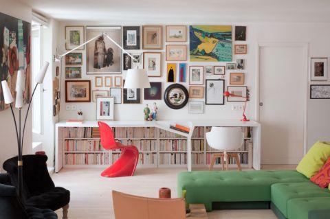 书房照片墙现代风格装潢图片