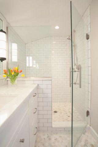 浴室背景墙混搭风格装饰效果图