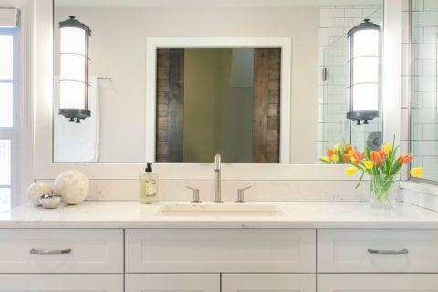 浴室洗漱台混搭风格装潢图片