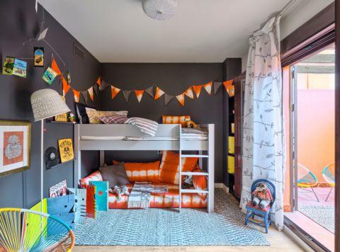 儿童房床混搭风格装饰图片
