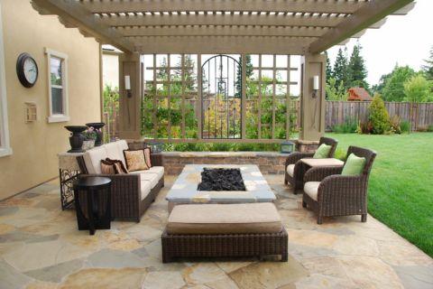 159平米庭院地中海风格装潢实景图片