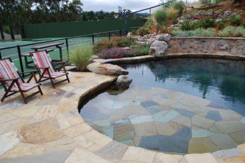 花园地砖地中海风格装修设计图片