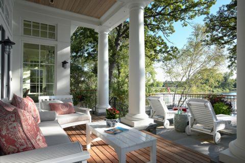 阳台地板砖美式风格装修图片
