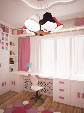 儿童房书桌现代风格装修设计图片