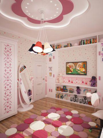 儿童房吊顶现代风格装饰设计图片