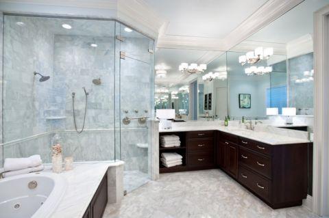 浴室背景墙美式风格装饰效果图