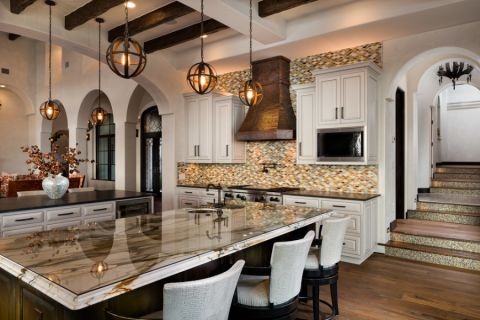 厨房吊顶地中海风格装潢设计图片