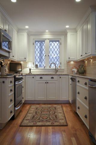 厨房地板砖美式风格装潢图片