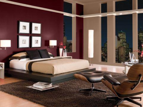 卧室照片墙现代风格装潢设计图片