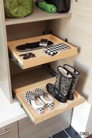 玄关鞋柜现代风格装潢效果图