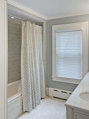 浴室窗帘美式风格装饰图片
