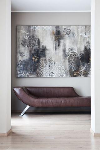 玄关背景墙现代风格装修效果图