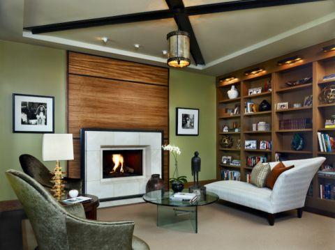 客厅博古架现代风格效果图