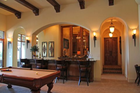 餐厅吧台地中海风格装饰图片