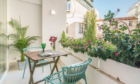 阳台地砖北欧风格装潢图片