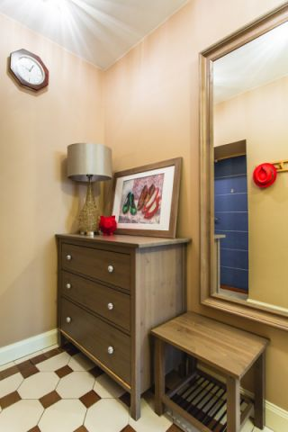 玄关背景墙混搭风格装修图片