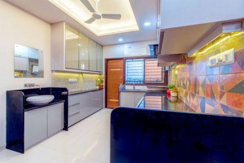 厨房地砖混搭风格装修效果图