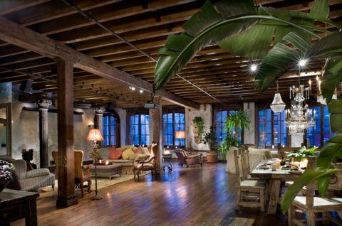 客厅混搭风格效果图大全2017图片_土拨鼠浪漫自然客厅混搭风格装修设计效果图欣赏