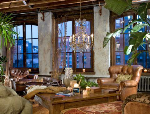 客厅茶几混搭风格装潢图片