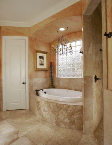 浴室地中海风格效果图大全2017图片_土拨鼠潮流沉稳浴室地中海风格装修设计效果图欣赏