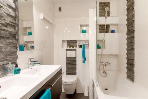 96平米公寓现代装修实景图片_土拨鼠装修效果图