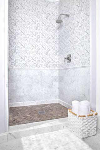 浴室地砖混搭风格装饰设计图片