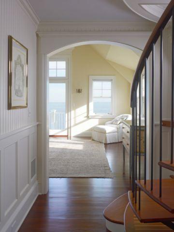 客厅楼梯美式风格装修图片