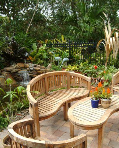 花园地砖混搭风格装潢设计图片