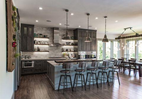 2021美式90平米装饰设计 2021美式四居室装修图