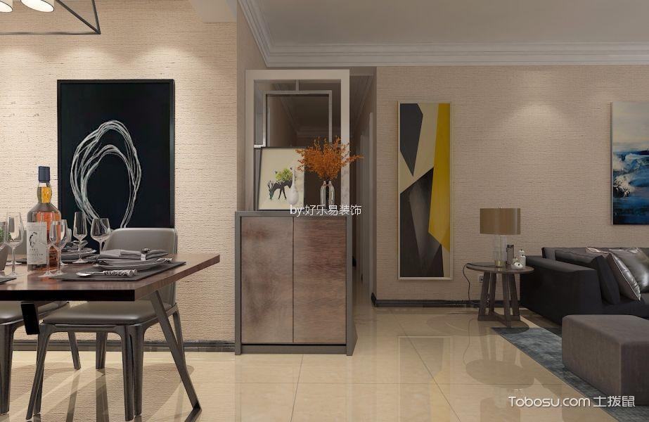 玄关_136现代三室两厅一卫一厨装修效果图