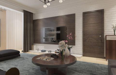 136现代三室两厅一卫一厨装修效果图