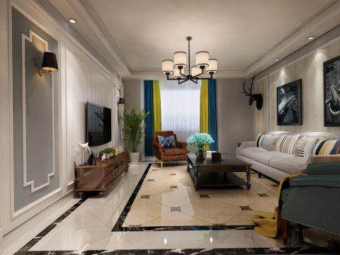 176平米美式风格二居室装修效果图