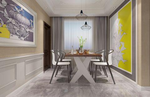 餐厅窗帘欧式风格装修设计图片