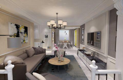 客厅灯具欧式风格装修效果图