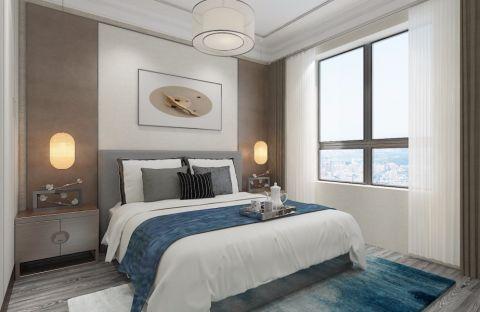 卧室背景墙简中风格装潢图片