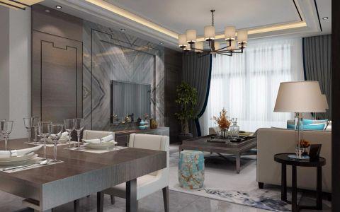 110平米中式风格二居室装修效果图