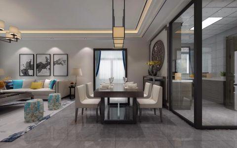 客厅地砖简中风格装饰效果图