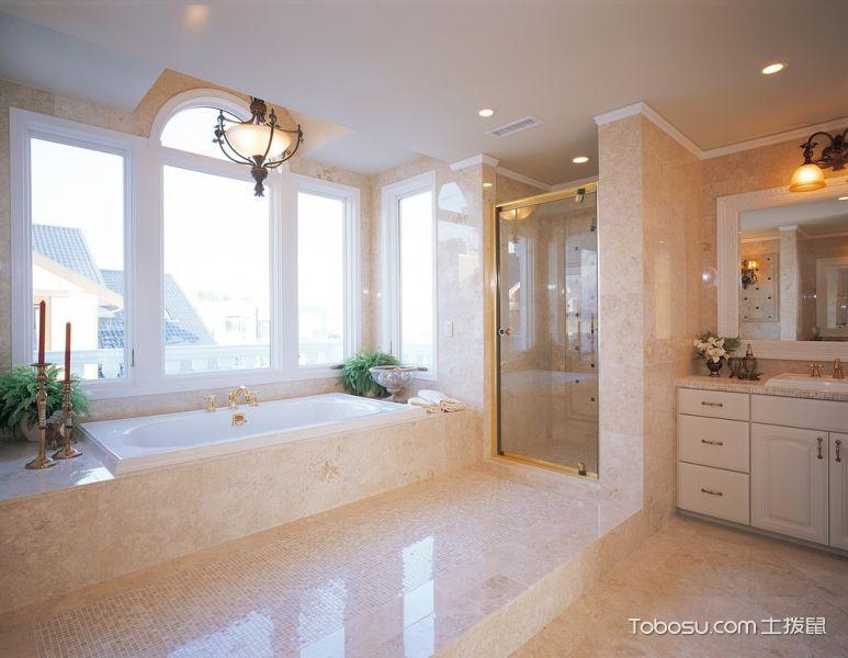 浴室白色浴缸地中海风格装修效果图