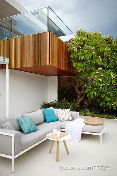 阳台白色地砖现代风格装修图片