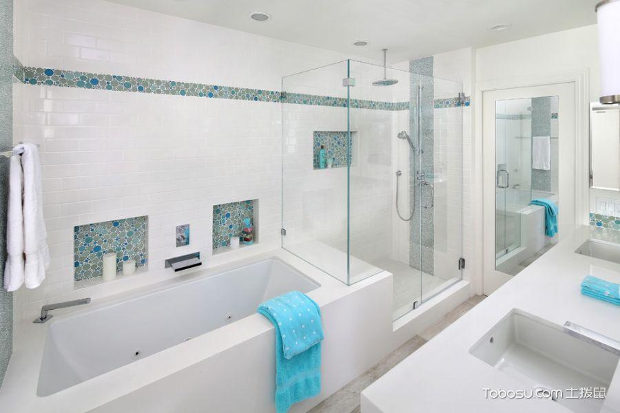 浴室白色浴缸现代风格装修图片