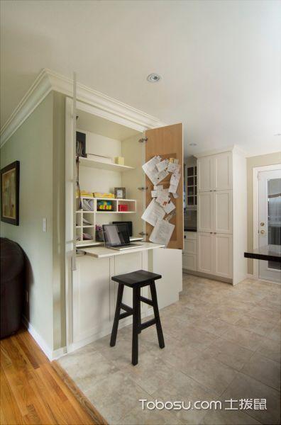 书房白色书桌美式风格装修设计图片
