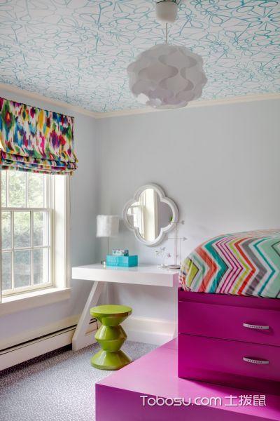 卧室白色梳妆台混搭风格装修效果图