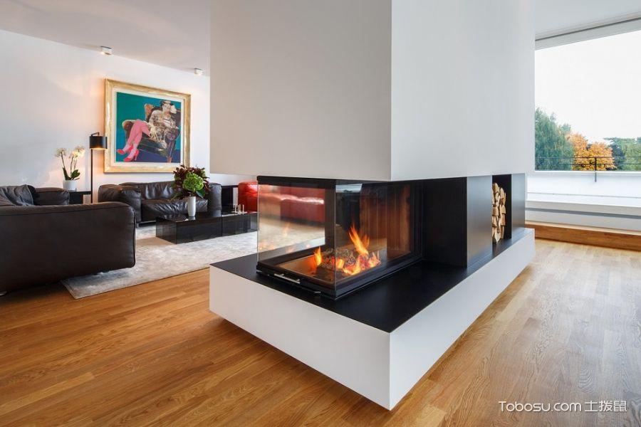 客厅橙色地板砖现代风格装潢图片